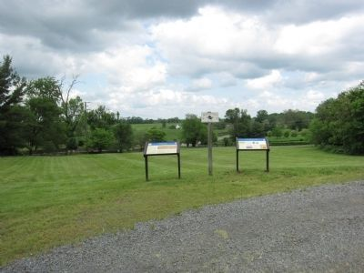 Markers at the Upperville Park image. Click for full size.