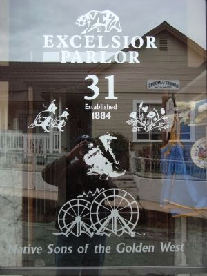 Glass Edging on the Excelsior Parlor #31 Hall Entrance Door image. Click for full size.