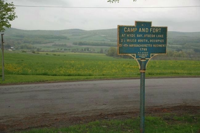 Camp and Fort Marker at Continental Road & Rt. 20 image. Click for full size.