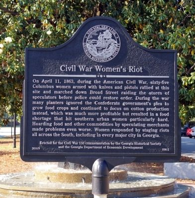 Civil War Women's Riot Marker image. Click for full size.