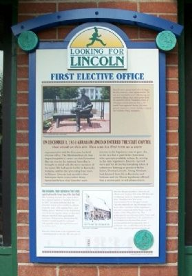 First Elective Office Marker image. Click for full size.