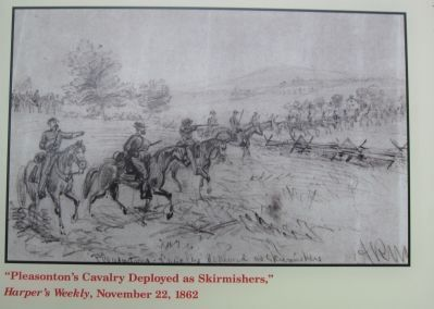 Pleasonton's Cavalry Deployed as Skirmishers image. Click for full size.