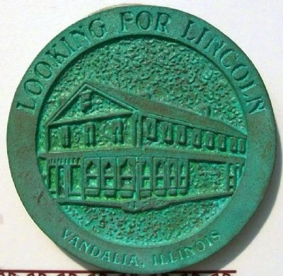 Where Did Lincoln Stay? Rubbing Medallion image. Click for full size.