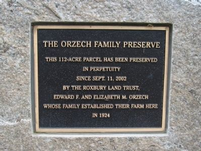 The Orzech Family Preserve Marker image. Click for full size.