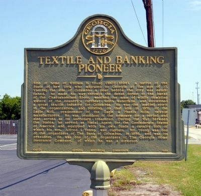 Textile and Banking Pioneer Marker image. Click for full size.