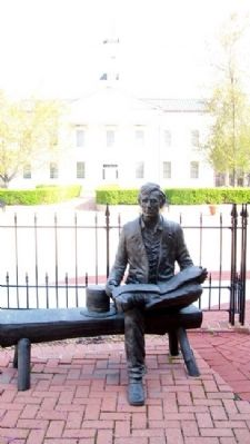 Sitting with Lincoln Statue image. Click for full size.