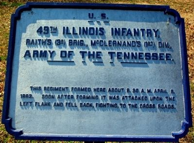 49th Illinois Infantry Marker image. Click for full size.