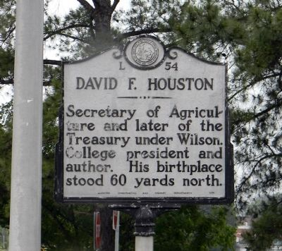 David F. Houston Marker image. Click for full size.