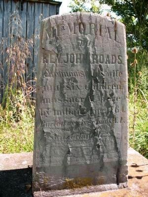 The Reverend John Roads Memorial image. Click for full size.