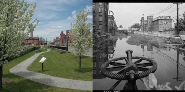 The Power Canal; Now & Then image. Click for full size.