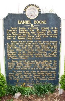 Daniel Boone Marker (Front) image. Click for full size.