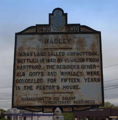 Hadley(Amherst Town Line) Marker image. Click for full size.
