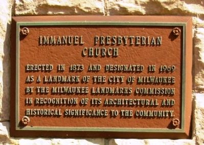 Immanuel Presbyterian Church Marker image. Click for full size.