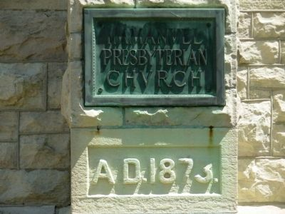 Immanuel Presbyterian Church Cornerstone image. Click for full size.