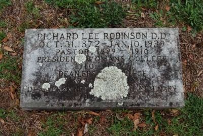 Richard Lee Robinson Tombstone<br>Due West A.R.P. Church Cemetery image. Click for full size.