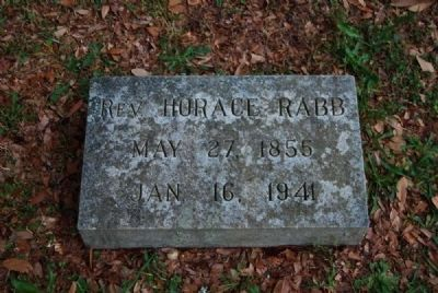 Rev. Horace Rabb Tombstone<br>Due West A.R.P. Church Cemetery image. Click for full size.