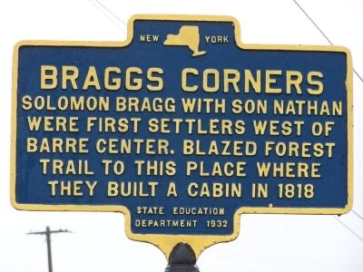 Braggs Corners Marker image. Click for full size.