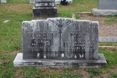 Robert Speer and Mary Eleanor Stone Galloway Tombstone<br>Due West A.R.P. Church Cemetery image. Click for full size.