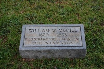 William W. McDill Tombstone<br>Due West A.R.P. Church Cemetery image. Click for full size.