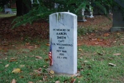 Capt. Aaron Smith Tombstone<br>Due West A.R.P. Church Cemetery image. Click for full size.