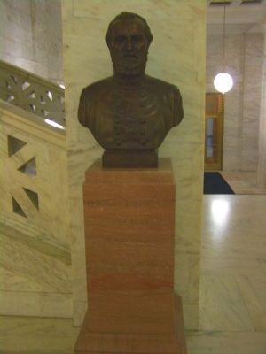"State Capitol , Bust of Native Son T.J. ""Stonewall"" Jackson image. Click for full size."