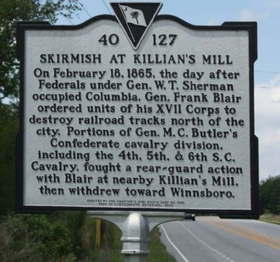 Skirmish at Killian's Mill Marker image. Click for full size.