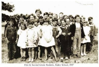 Bailey School First & Second grade students in 1937 image. Click for full size.