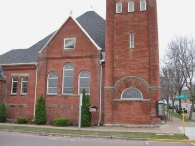 Trinity United Methodist Church and Marker image. Click for full size.