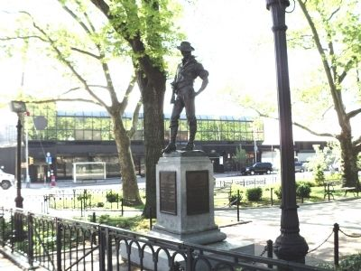 Marker in Tompkinsville Park image. Click for full size.