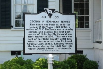 George P. Hoffman House Marker image. Click for full size.