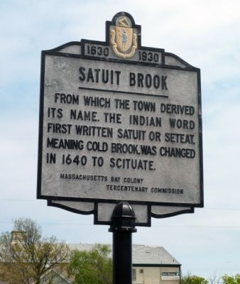 Satuit Brook Marker image. Click for full size.