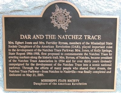 DAR and the Natchez Trace Marker image. Click for full size.