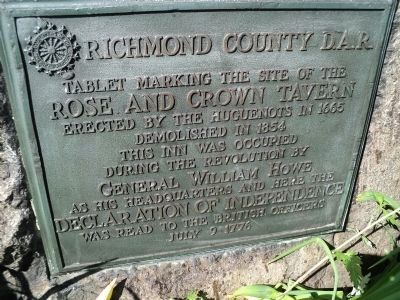 Rose and Crown Tavern Marker image. Click for full size.