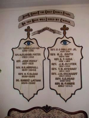 Cedar Springs A.R.P. Church wall hanging image. Click for full size.