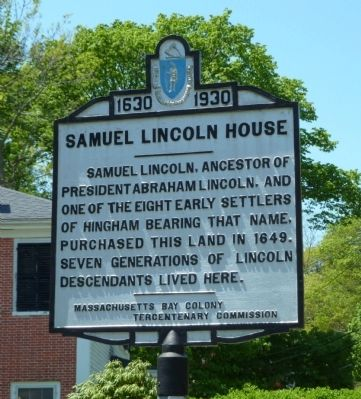 Samuel Lincoln House Marker image. Click for full size.