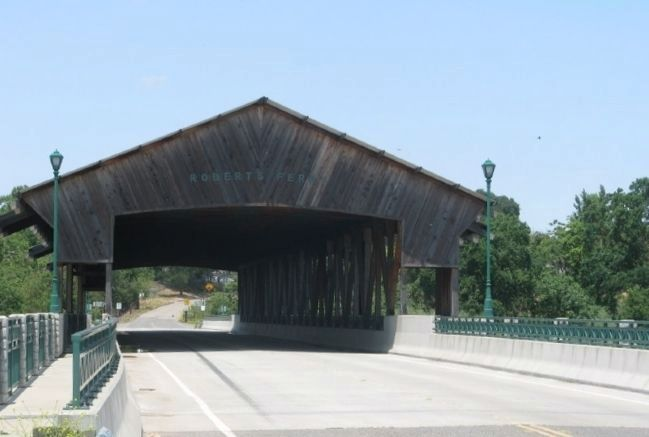 Roberts Ferry Covered Bridge image. Click for full size.