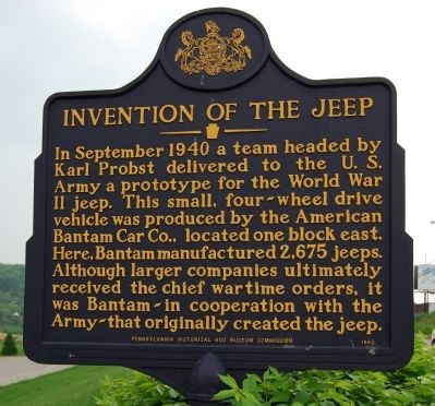 Invention Of The Jeep Marker image. Click for full size.