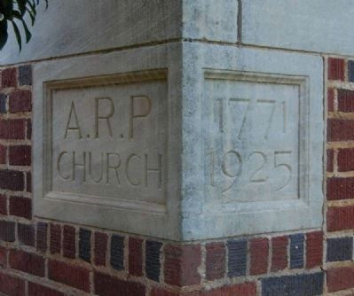 Due West A.R.P. Church<br>Cornerstone image. Click for full size.