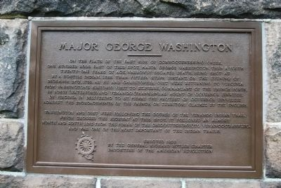 Major George Washington Marker image. Click for full size.