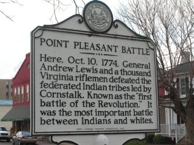 Point Pleasant Battle Marker image. Click for full size.