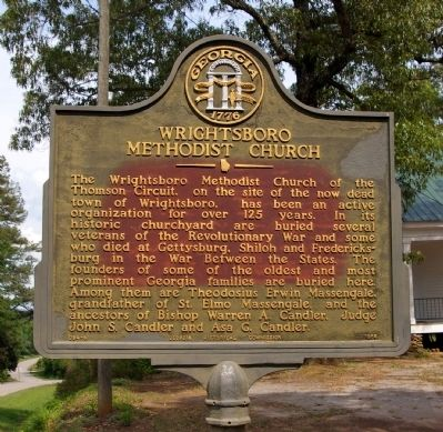 Wrightsboro Methodist Church Marker image. Click for full size.