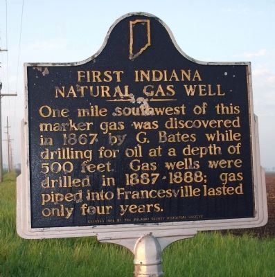 First Indiana Natural Gas Well Marker image. Click for full size.