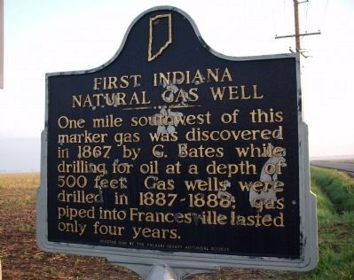 Obverse View - - First Indiana Natural Gas Well Marker image. Click for full size.