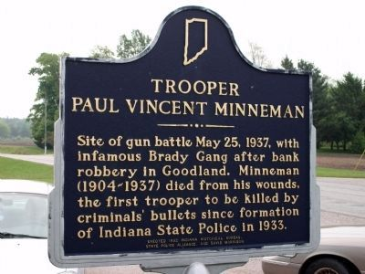 Obverse View - - Trooper Paul Vincent Minneman Marker image. Click for full size.