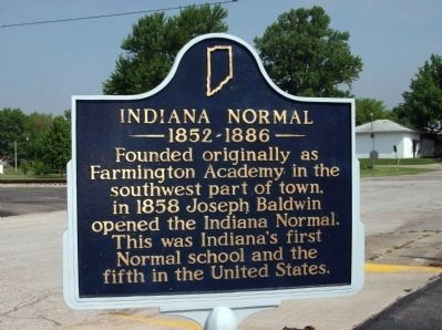 Obverse View - - Indiana Normal Marker image, Touch for more information