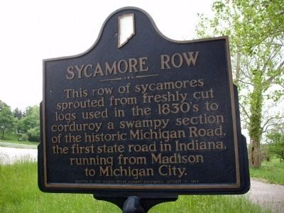 Obverse View - - Sycamore Row Marker image. Click for full size.