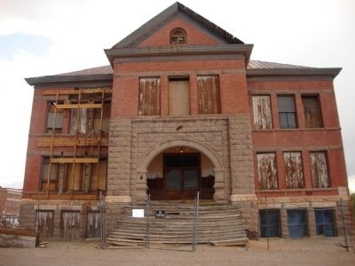 Goldfield Historic High School image. Click for full size.