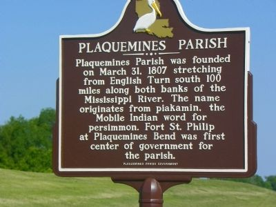 Plaquemines Parish Marker image. Click for full size.