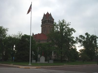 S/W Corner - - Starke County Courthouse image. Click for full size.