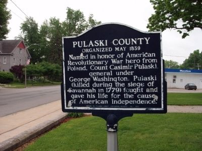 Pulaski County (Indiana) Marker image. Click for full size.